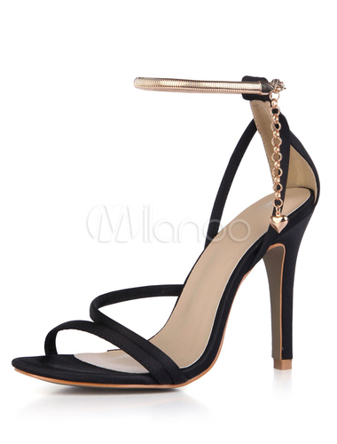 Zapatos de tacón de puntera abierta de stiletto de satén elegantes para fiesta formal 6SE7cK