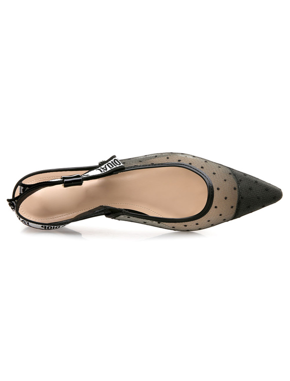 Zapatos planos Planos de slingback de puntera puntiaguada para mujer estilo moderno Transparentes para pasar por la noche bVjwCOX