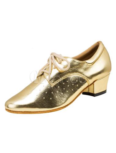 Zapatos de bailes latinos de PU de tacón gordo para baile de puntera puntiaguada S8wW8