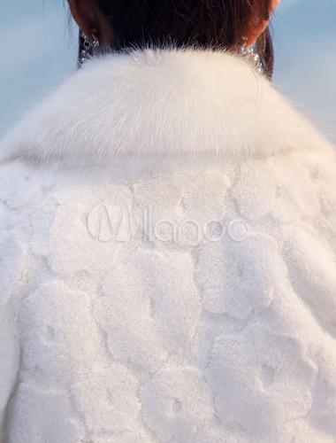 af47e94c081d8 Bolero Wedding Jacket Faux Fur Long Sleeve Bridal Shrug Tops Party Cover  Ups-No.