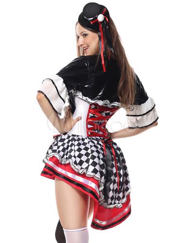 Halloween Costume Clown Movie Black Women Short Dresses Costume