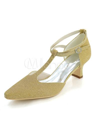 Zapatos de boda brillo Plata punta de 1920s Zapatos de tacón estilo vintage XG0omwG