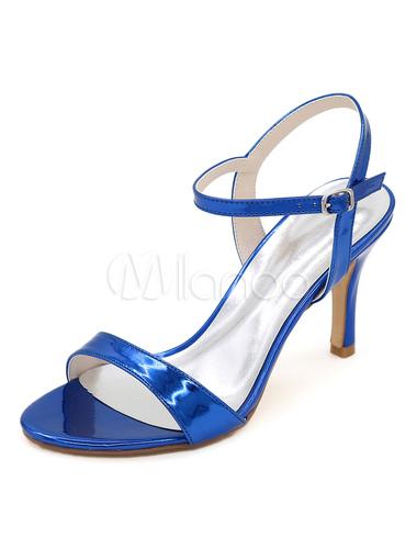 Amplia gama de en línea Precio barato asequible Sandalias para novias de puntera abierta de tacón de stiletto Sandalias de PU estilo moderno Visa pago a la venta T0y9It