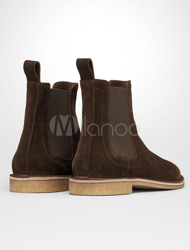 meet 0327f 4a59b Herren Wildleder Booties Round Toe lässige Short Chelsea Boots