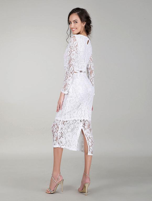 buy online 93e78 f2650 Vestiti da cocktail in abiti da sposa bianchi Vestito da sera in vernice  Bodycon