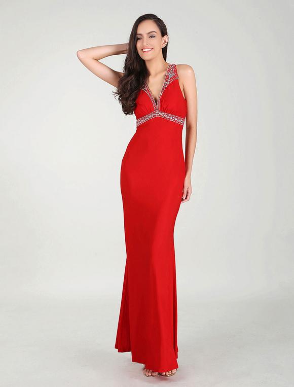 Vestidos de noche de rojo
