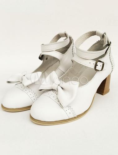 Zapatos de lolita blancos SFAof7