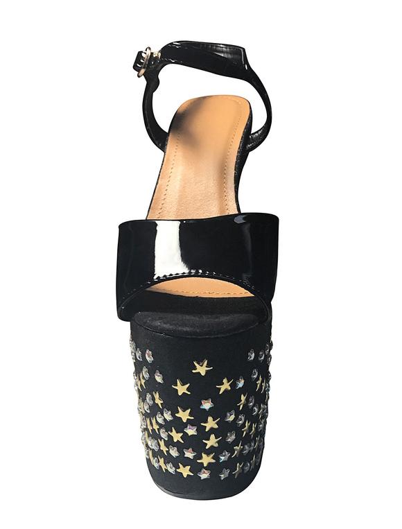 57d7dbb238513f ... Chaussures femme sexy sandales talons hauts noir paillettes à  l'intérieur des chaussures Sexy- ...