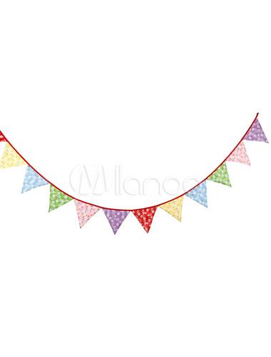 Banner Fahnen Clipart Multicolor Dreieck Hochzeit Bedruckt Girlande