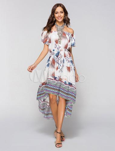 Gemischten Mit Style Print Im Bohemian Boho Baumwollen Kleider KTlJcF1