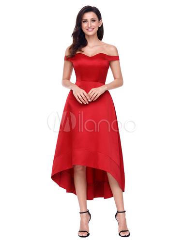 b173728fade7 ... Women Long Dress White Off The Shoulder High Low Summer Dress-No.2 ...