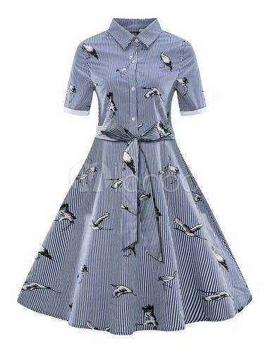 1950s Shirt Dress