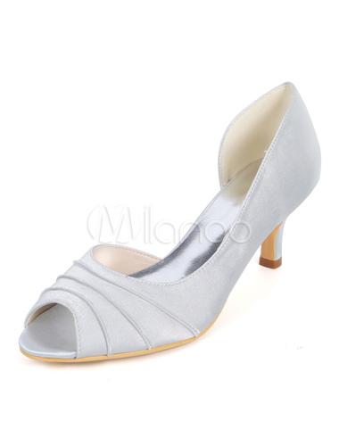 prima clienti scarpe temperamento prezzi di sdoganamento Scarpe da Sposa Mamma della Sposa Royal Blue Peep Toe Slip On Pumps Gattino  Scarpe da Ginnastica per Ospite