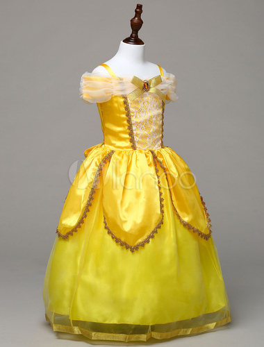 Princess Belle Cosplay Costume Kids Beauty And The Beast Halloween