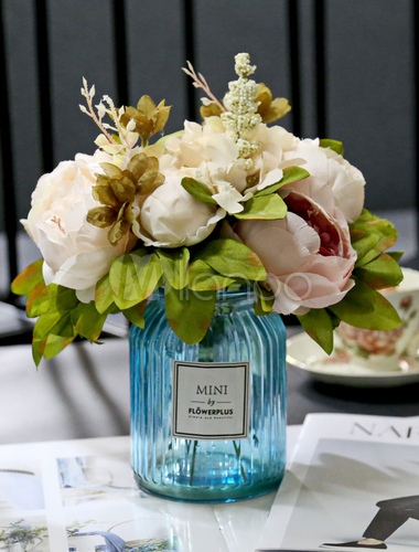 85fb26952 ... Flowers Wedding Table Decorations Glass Vase Blush Pink Dining Room  Table Centerpieces-No.4 ...
