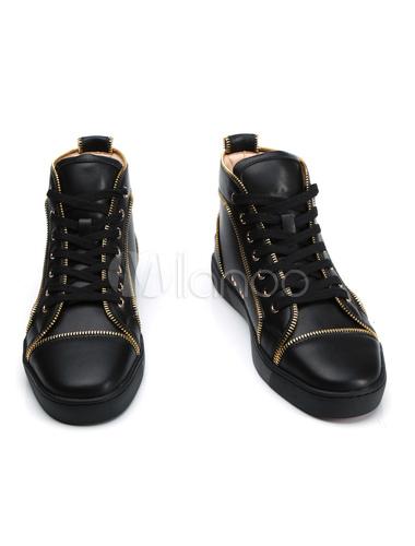 Scarpe Skate Con E Alte Nero Da Tacco Uomo Alto Sneakers Dettaglio aargwq