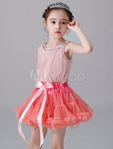 a6471a9ddb51a ... Flower Girl Petticoat Short Tulle Flare Slip Lolita Underskirt-No.5 ...