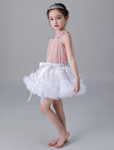 b3732ec3fb258 ... Flower Girl Petticoat Short Tulle Flare Slip Lolita Underskirt-No.6 ...