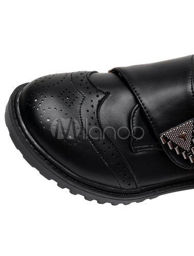 f31538e87 ... Zapatos con alerón negro