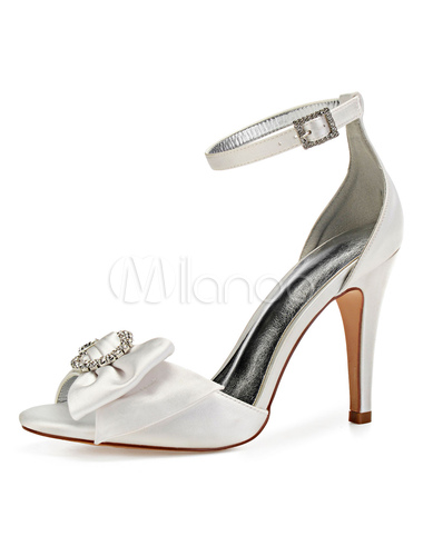 7a63c0c458a ... Purple Wedding Shoes Satin Peep Toe Bow Rhinestones Ankle Strap Bridal  Shoes High Heel Mother Shoes ...