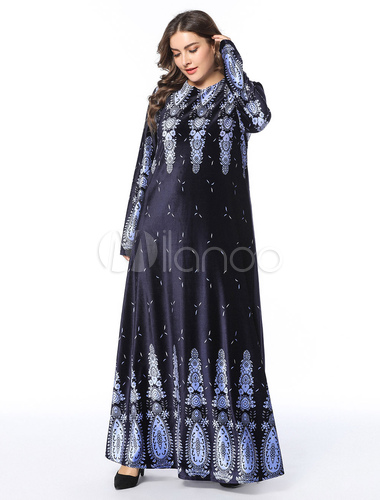39afbbb137 ... Vestido Kaftan musulmán De manga larga