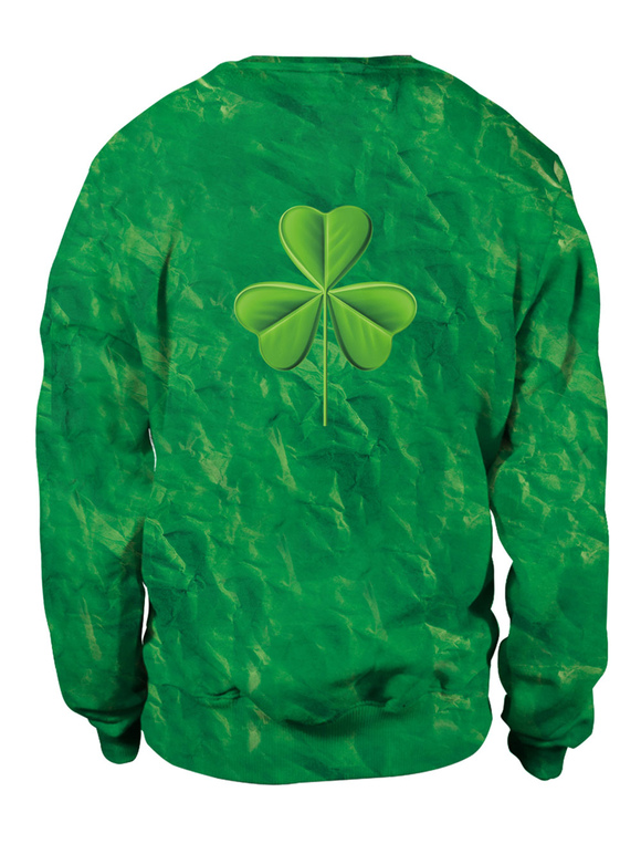 9ea55c84473d ... St Patricks Day Green Sweatshirt 3D Printed Cat Dog Clover Pullovers  Unisex Irish Long Sleeve Top ...