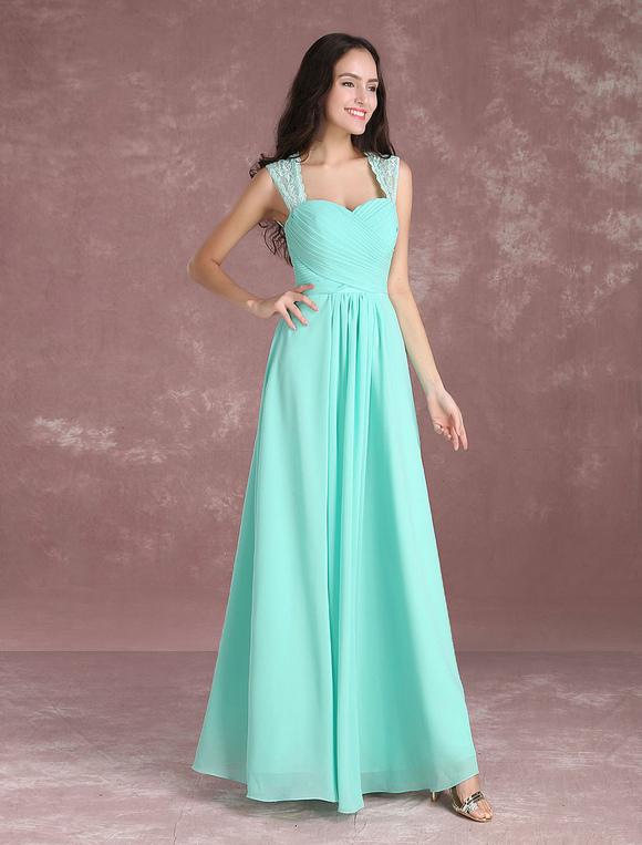 Vestidos de dama de honor verde menta