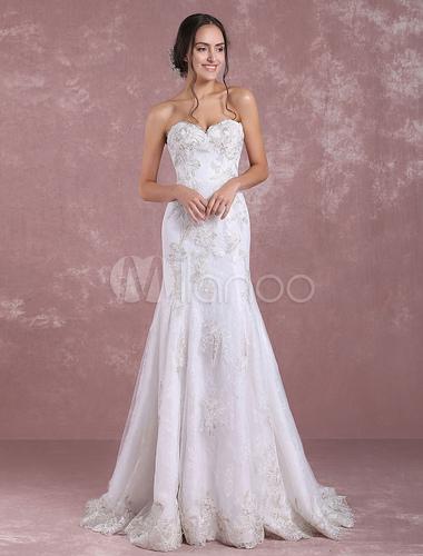 Summer Wedding Dresses 2018 Mermaid Lace Bridal Dress Ivory ...