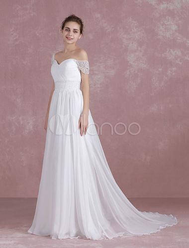 Summer Wedding Dresses 2018 Chiffon Sweetheart Off The Shoulder ...