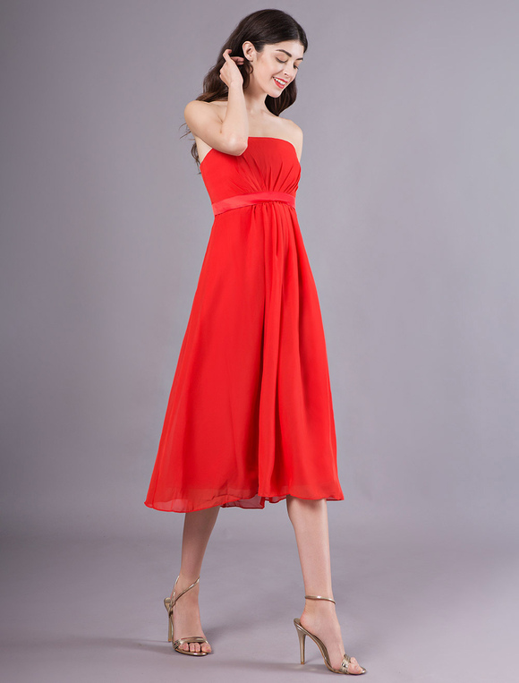 damigella raso rosso Vestito elastico da d'onore da in premaman ZqwX0w5T
