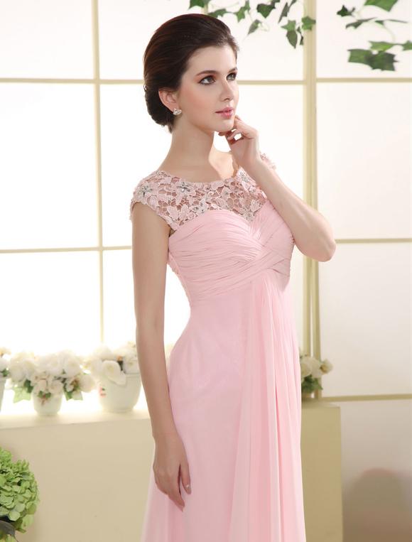 Ballkleid abiballkleid 2019 rosa abendkleid mit spitze aus - Kleider milanoo ...