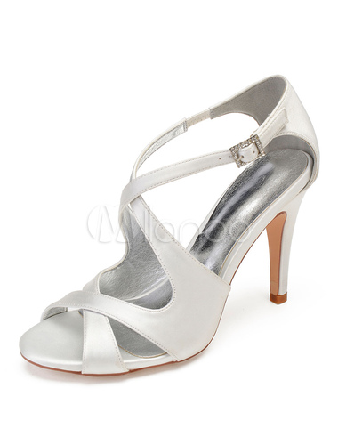 Scarpe Sposa Color Champagne.Champagne Bridesmaid Shoes Satin Open Toe Criss Cross Wedding