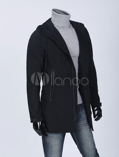 Homme Capuche Zippé Quotidienne Printemps Matelassé Veste Manteau 2019 Avec Noir lJFK13Tc