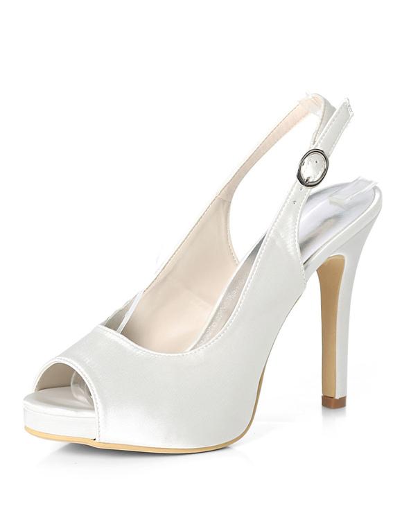 2542cf3b9af4c ... Purple Mother Shoes Satin Peep Toe Slingbacks Wedding Shoes High Heel  Wedding Guest Shoes-No ...
