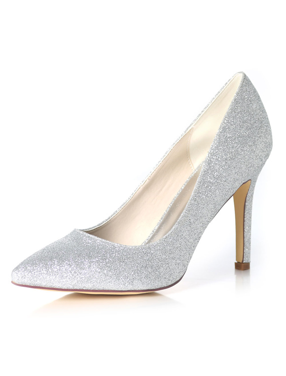 079b83bad6b Champagne Bridesmaid Shoes Glitter Wedding Shoes Women Pointed Toe High Heel  Prom Shoes-No.