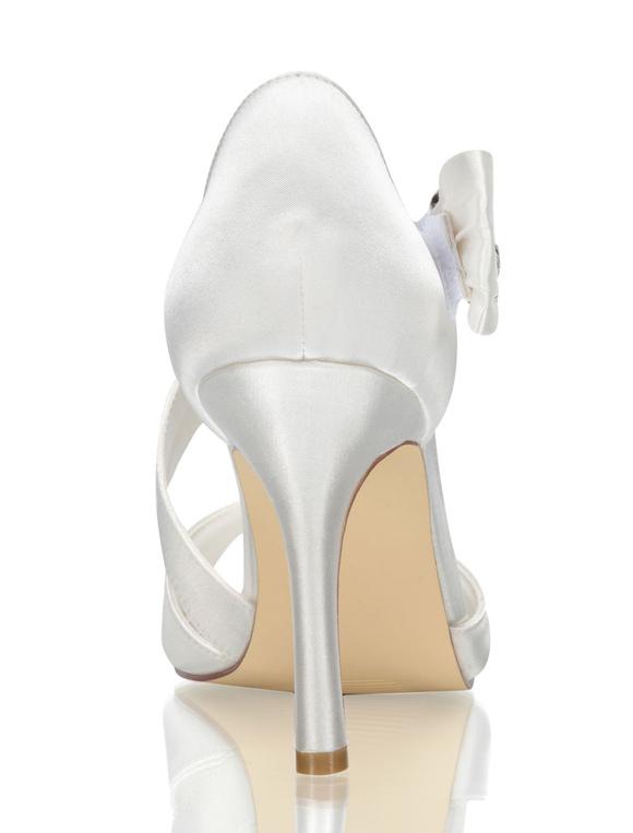 Su CHENY Talons Satin Blanc Ivoire Dentelle Gypsophile Bout Ouvert Mariage Chaussures de mariée
