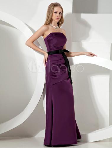 Vestidos de noche color morado uva