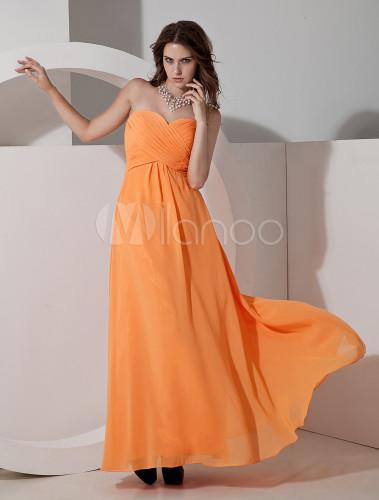 Vestidos para damas de honor color naranja
