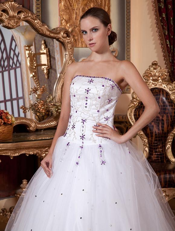 e1d0e08e1 ... Vestido para quinceañeras de tul con escote palabra de honor y cuentas-No.7  ...