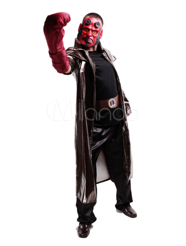 costume halloween hellboy noir homme en pu. Black Bedroom Furniture Sets. Home Design Ideas