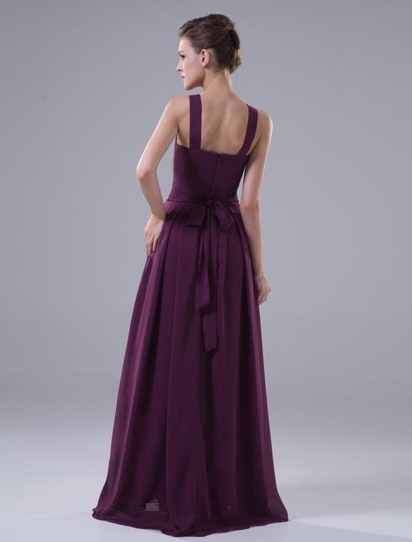 robe demoiselle d 39 honneur bordeaux en chiffon et satin mat licou. Black Bedroom Furniture Sets. Home Design Ideas
