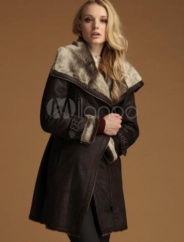 Manteau fourrure femme raccoon