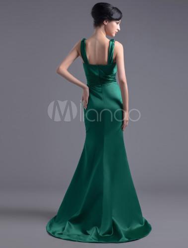 Robe de soiree vert foret