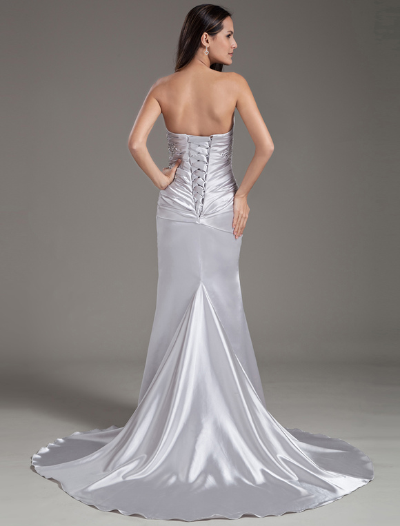 Trajes de novia color plata
