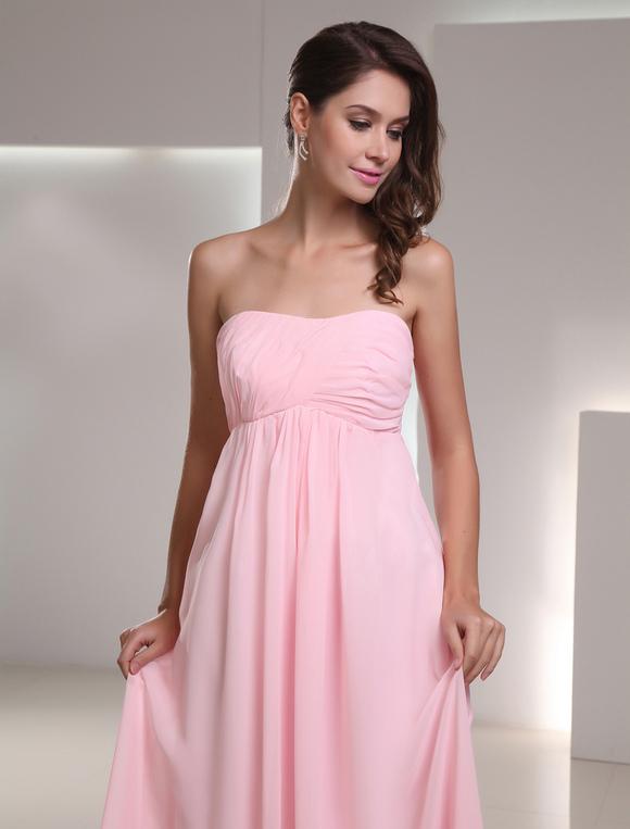 robe demoiselle d 39 honneur en chiffon rose pliss bustier. Black Bedroom Furniture Sets. Home Design Ideas