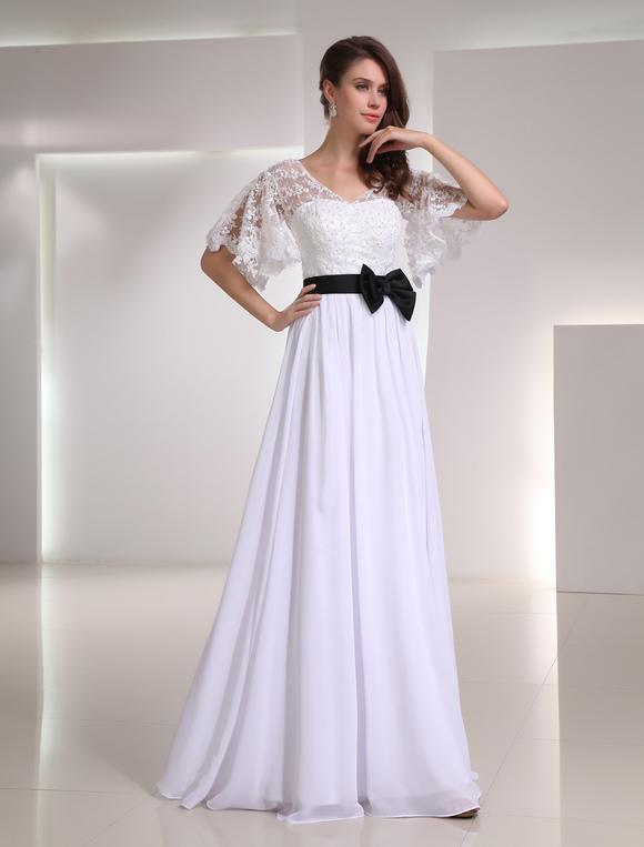 Robe de soiree blanche en dentelle
