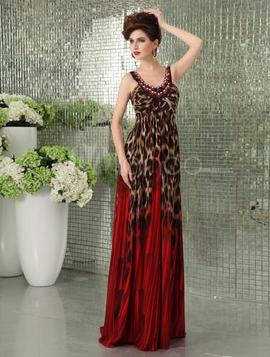 Abendkleid aus chiffon in rot milanoo for Milanoo abendkleider