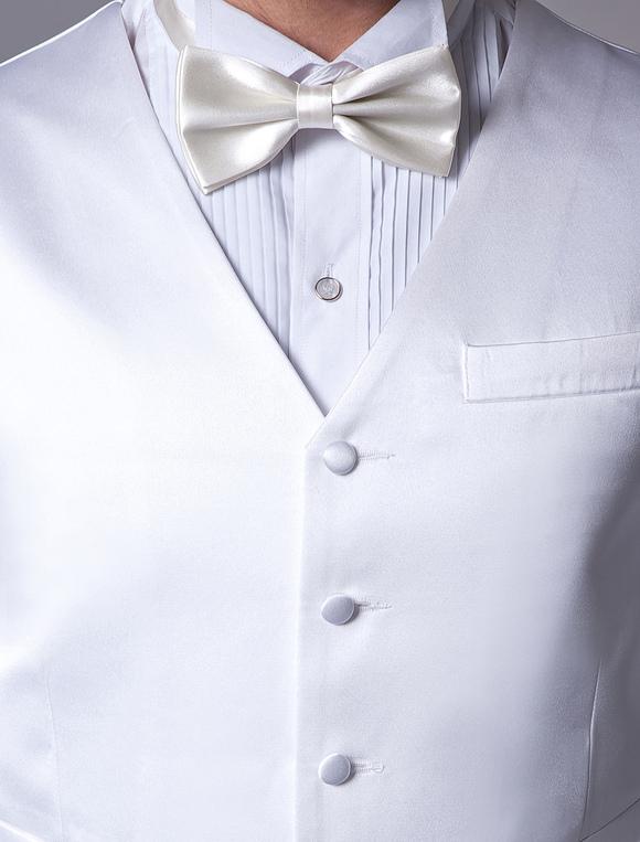 Gilet Uomo Matrimonio : Gilet per uomo bianco personalizzato tradizionale elegante