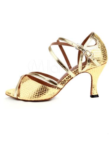Zapatos de bailes latinos de tela-brillantes dorados jP4hjgLk8d