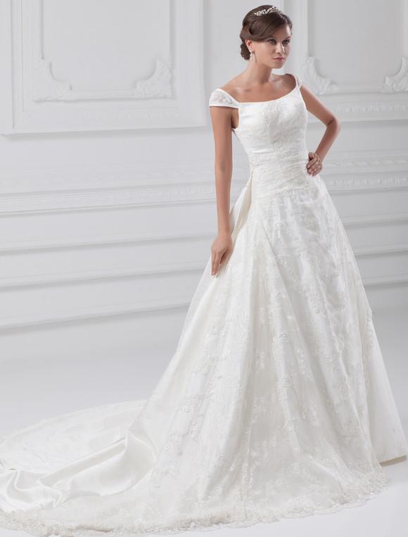 Robe de mariage a ligne ivoire en taffetas hors de l for Hors des robes de mariage san francisco